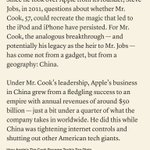 To understand Apple's success under Tim Cook, you need to understand its reliance on China.
