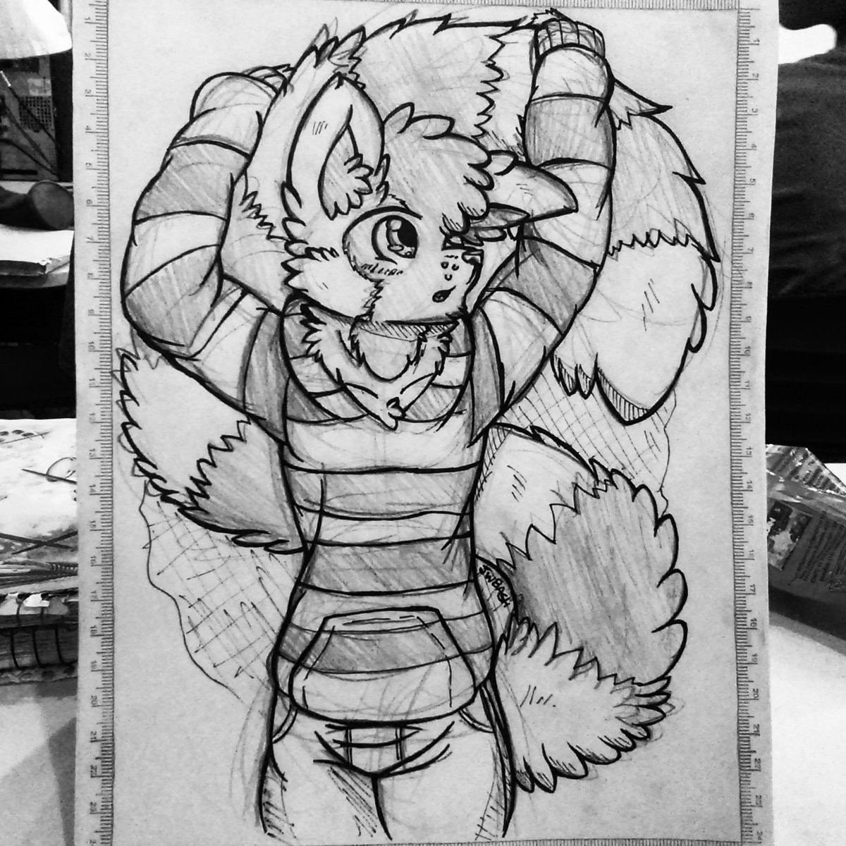 Another lemur boi drawing, inspired in a video of a real lemur that one friend send to me X3  #ink #sona #lemur #jwbashocs #traditionaldoodle #traditionalart <br>http://pic.twitter.com/BrKwRDMXsj