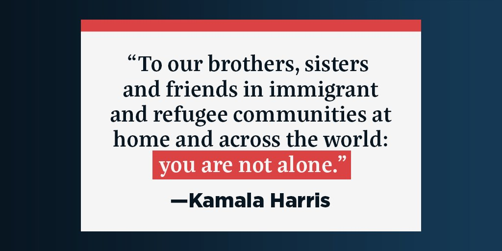 From Trump's Muslim ban to the recent human rights abuses being committed by our government along the southern border, this Administration has been marked by mistreatment of immigrant and refugee communities. We must stand with them — no one should be left to fight alone.