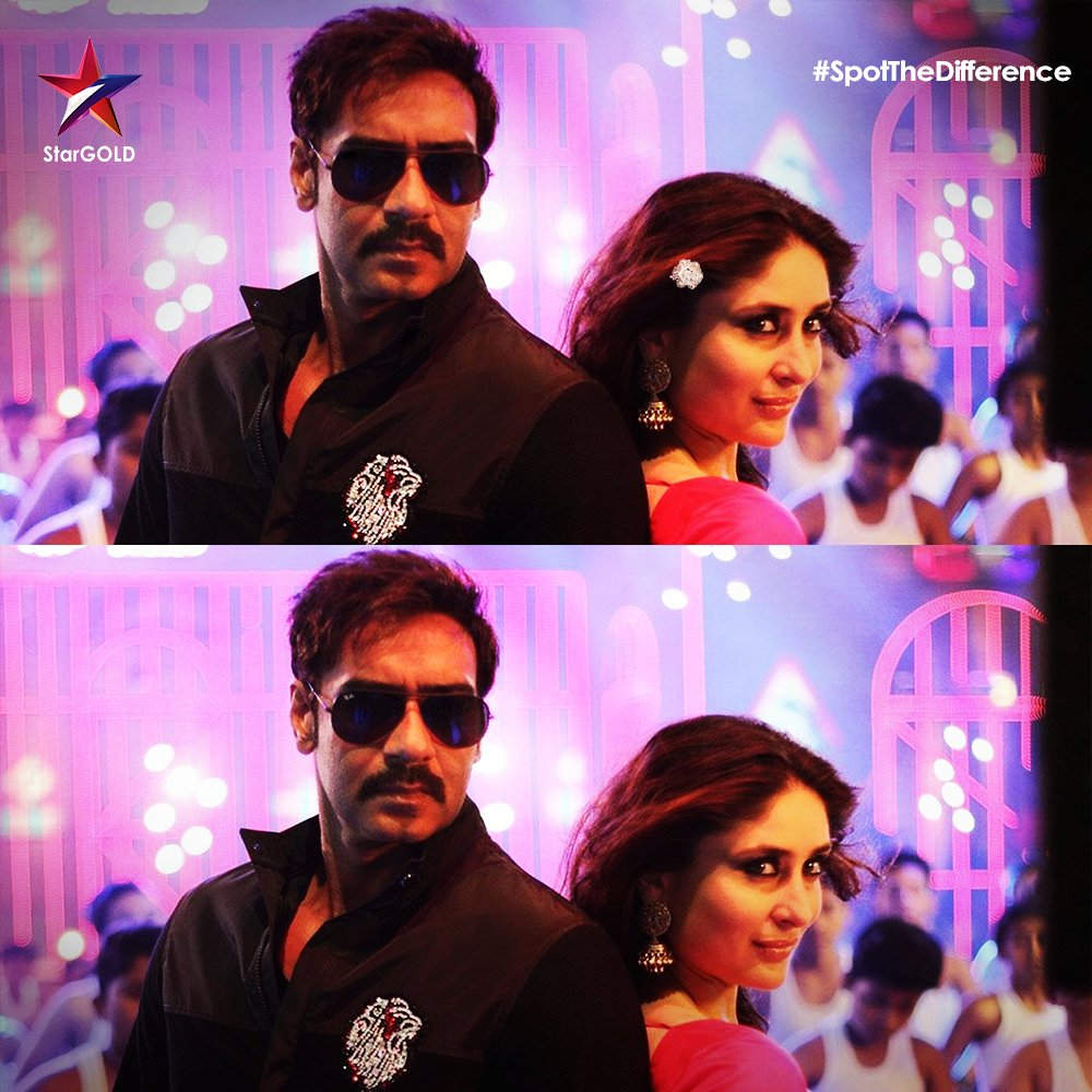 Aali re aali, ata tumchi baari aali! Spot the difference in this scene from Singham Returns! #SpotTheDifference