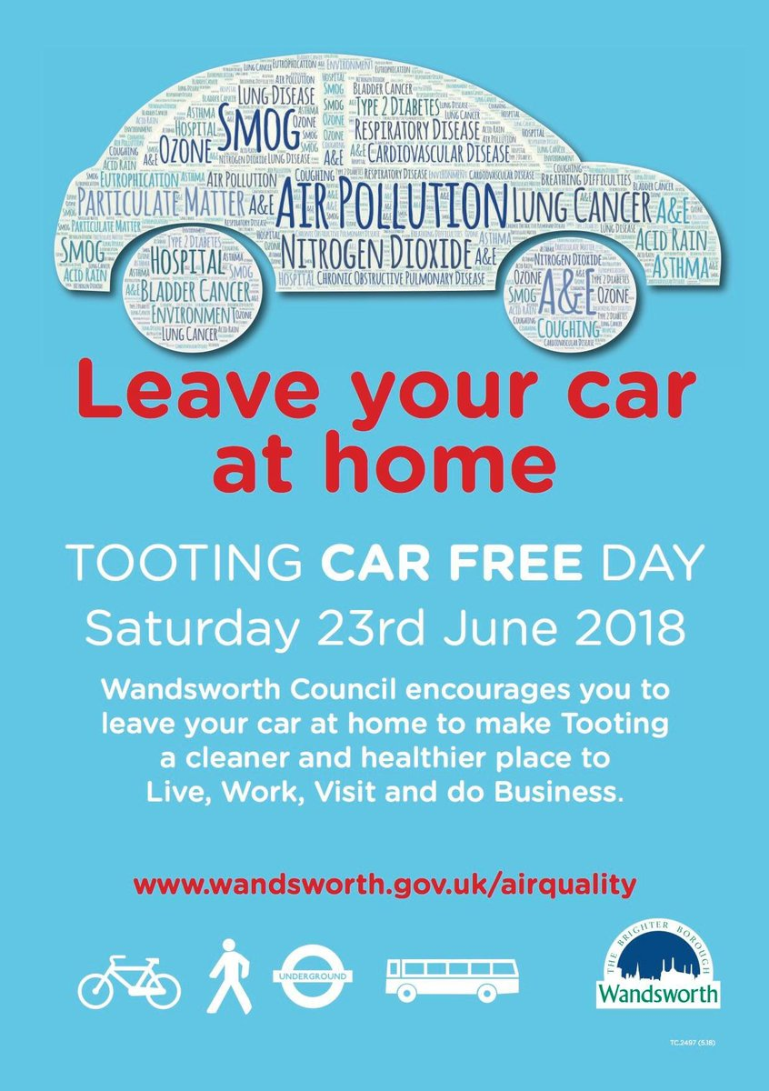 Remember #tootingnites, it's #carfreeday in #Tooting today. Let's all do our bit to improve the air quality around us.  http://www. wandsworth.gov.uk/airquality  &nbsp;  <br>http://pic.twitter.com/FUeSBUKO1n