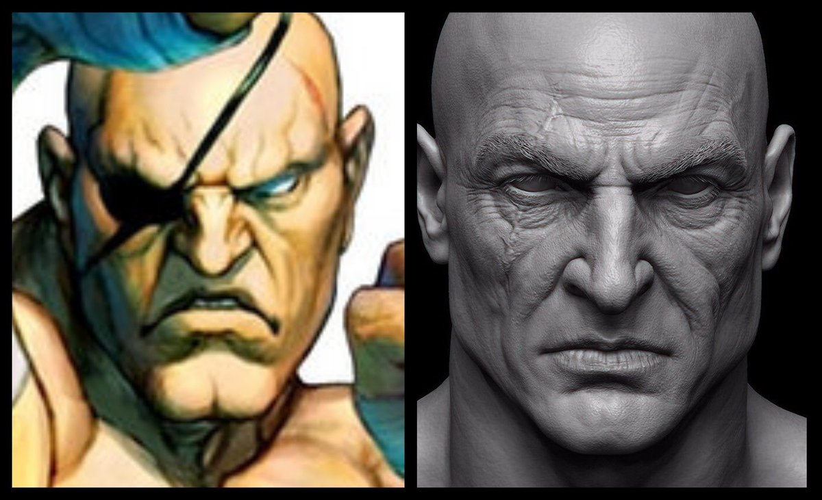 Mrtommo On Twitter Sagat Beardless Kratos Kratos