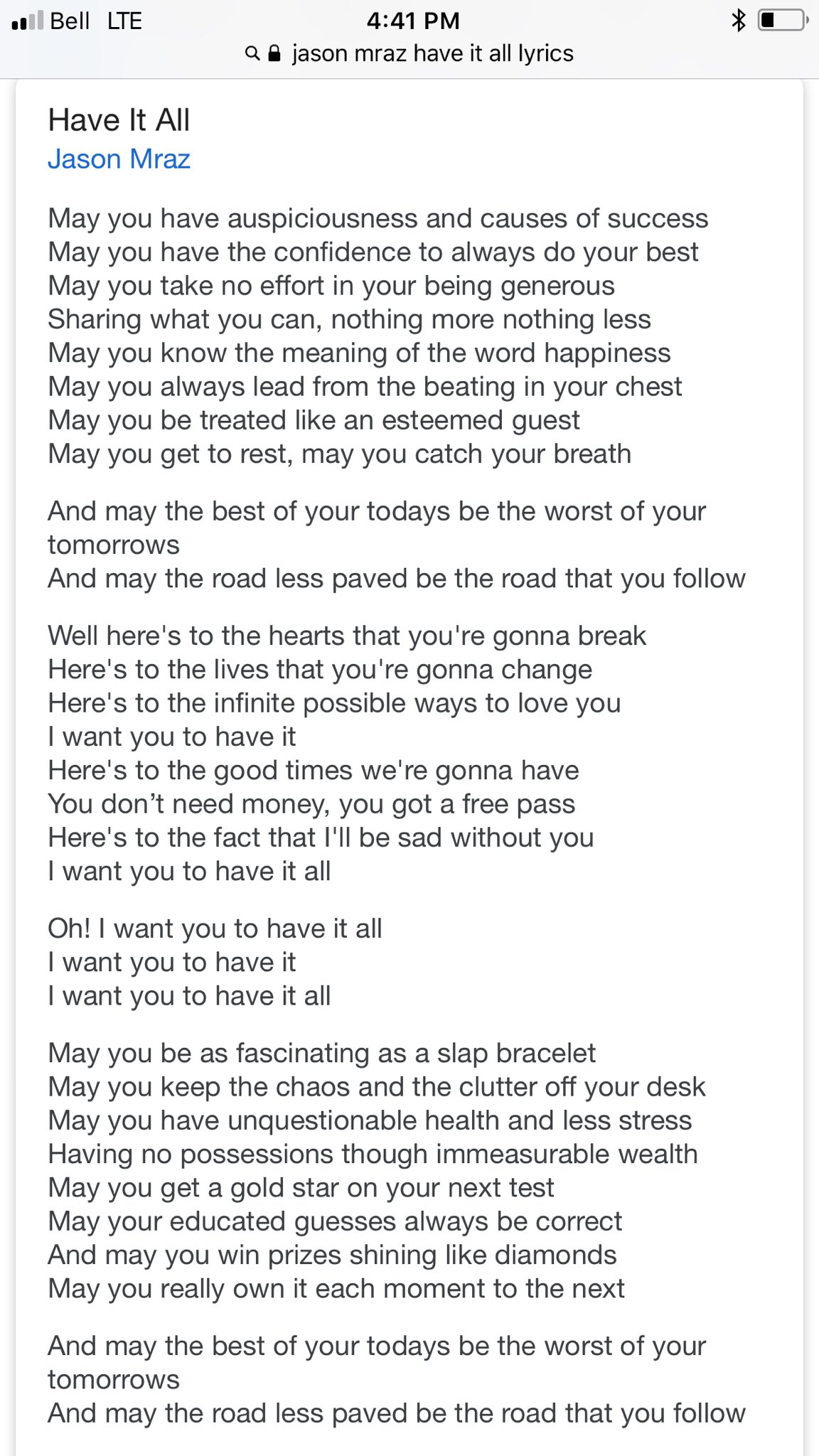 i want you to have it all lyrics