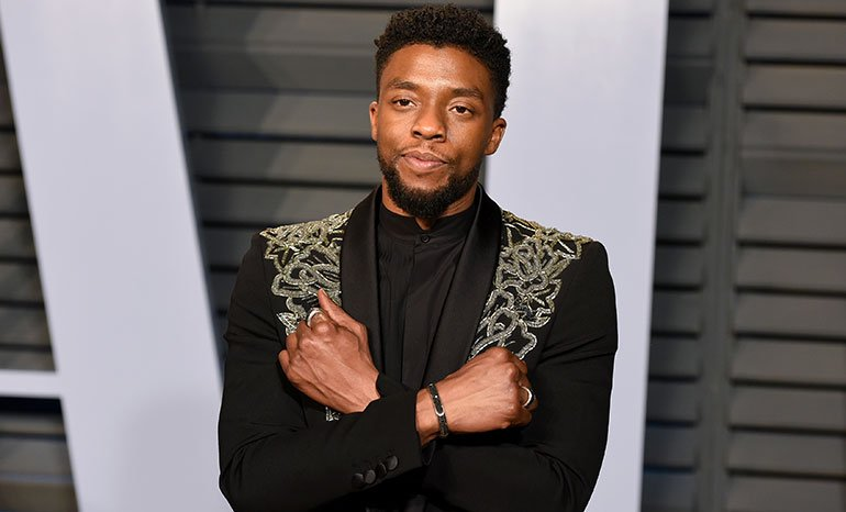 As we suspected, Chadwick Boseman is tired of your #WakandaForever salutes. bit.ly/2t4YulF