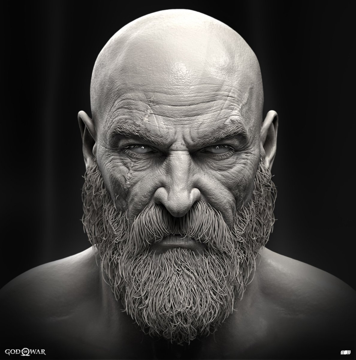 Check out kratos with and without his beard! (via ...