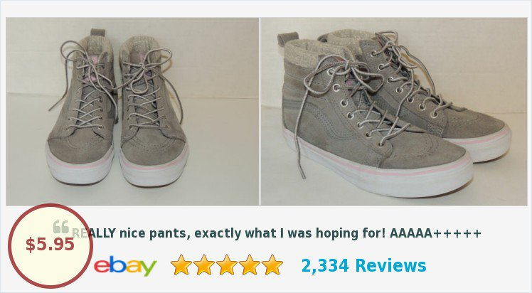 fcda2bda04b Don t Miss VANS Women s Girl s Grey Suede White Polka Dot Trim Lace Up High  Top Skate Shoes