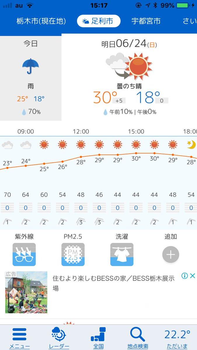 市 天気 足利 の