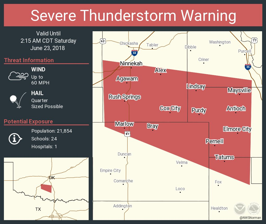 Nws Severe Tstorm On Twitter Severe Thunderstorm Warning Including