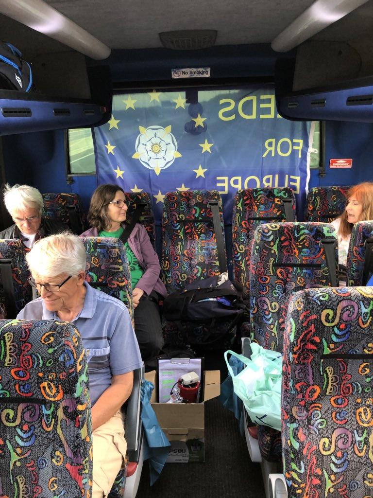 Leeds for Europe are on the move! Long way to go, but looking forward to arriving in London for the #PeoplesVoteMarch. See you soon!<br>http://pic.twitter.com/jYjX3uZxwv