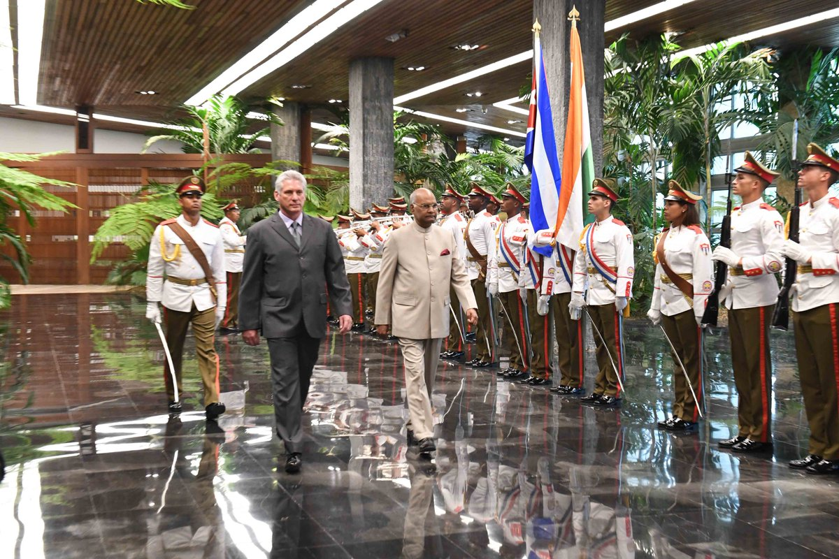 President #RamNathKovind concludes his tour to Greece, Suriname and Cuba and is on his way back home.
