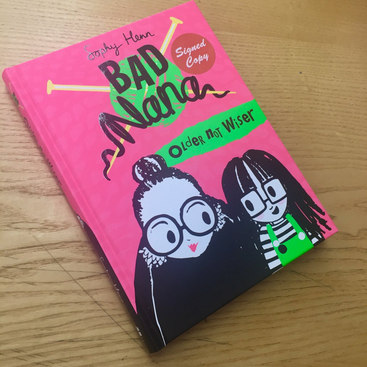 Had a wonderful visit from @sophyhenn yesterday to sign copies of her latest funny and sassy book Bad Nana. Thanks for the visit and the signed stock! @IndieThinking @HarperChildrens