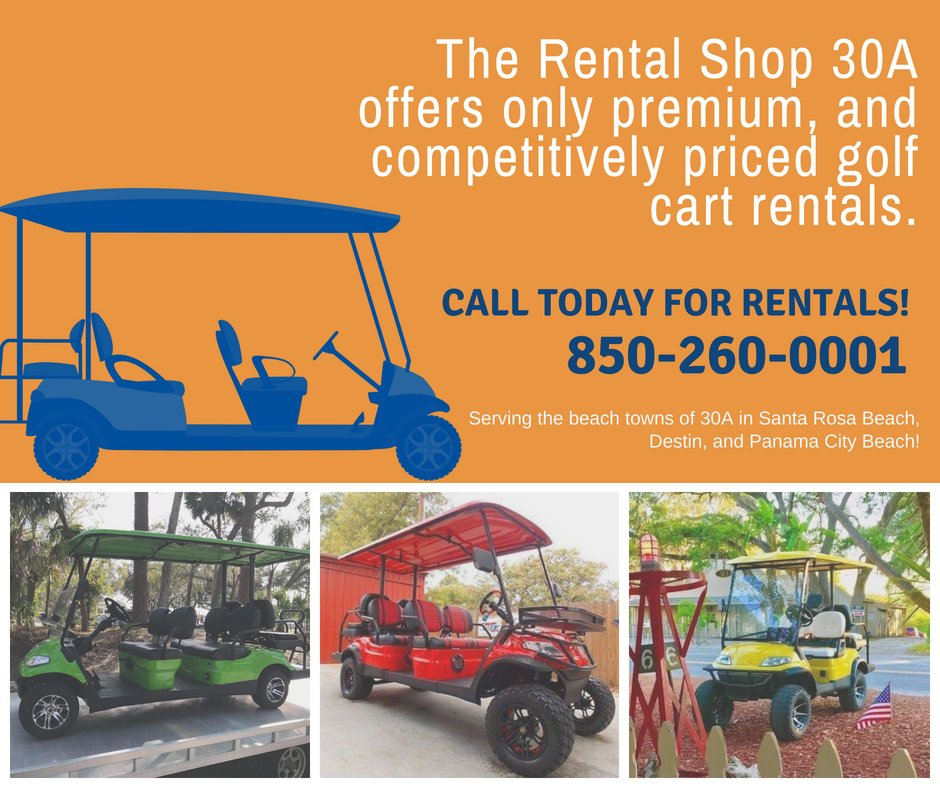 The Rental Shop 30a On Twitter The Rental Shop Offer Golf Cart