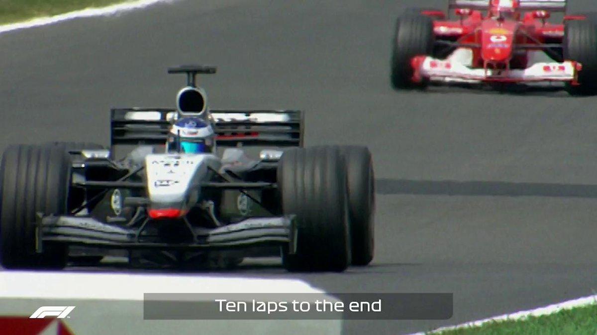 #FrenchGP 2002: Michael Schumacher seals his 5th World Championship 🏆🏆🏆🏆🏆 #KeepFightingMichael