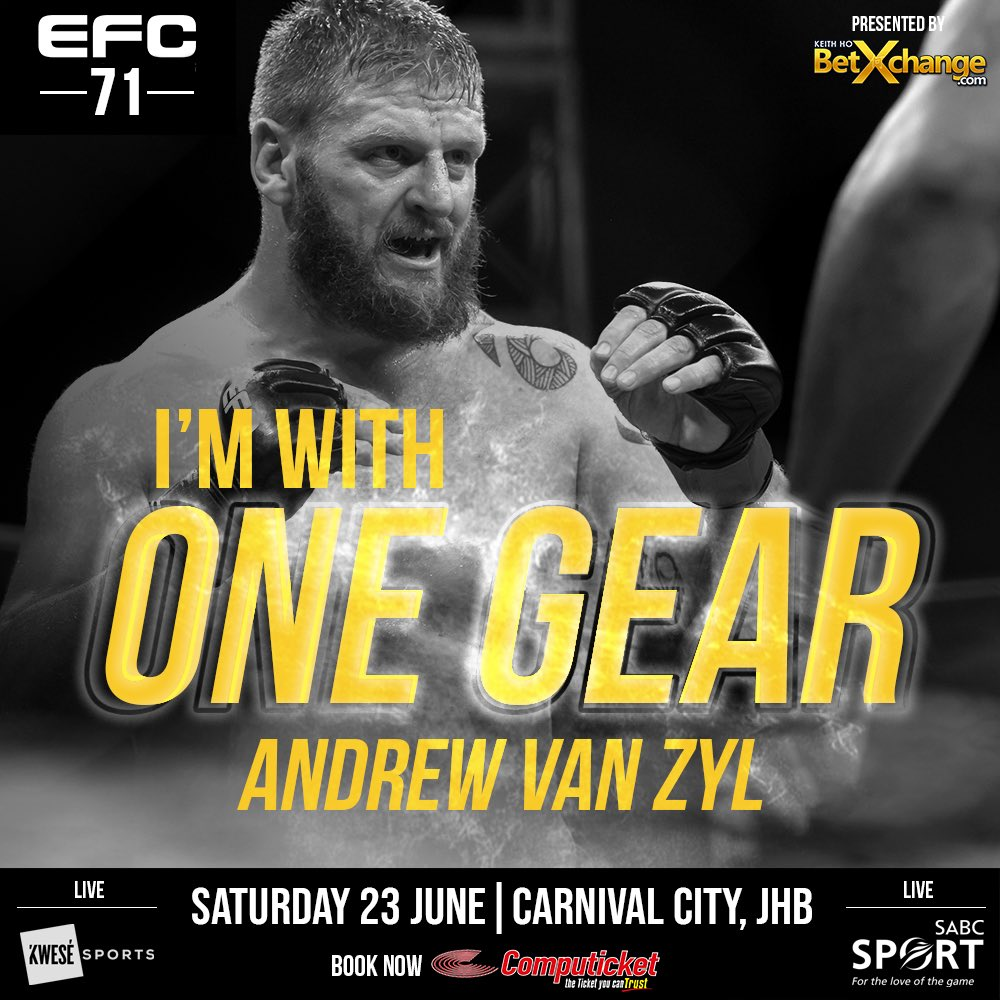 LIKE and RT if you are with 🇿🇦 @Andrew_vanzyl1 tonight! #EFC71 https://t.co/EFk96So7d7