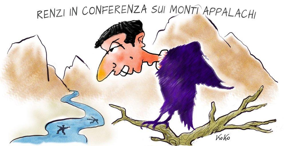 #Renzi in conferenza sui monti Appalachi.  http:// www.kokonews.eu#OraoMaiPiu #Saviano #secondaprova #Grecia #Appendino #redditodicittadinanza #FattoQuotidiano #Repubblica @sole24ore @pdnetwork #23giugno  - Ukustom