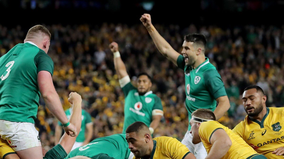 We've done it! @IrishRugby have clinched the series! What a game, what a series, what a win! ☘️ #AUSIRE