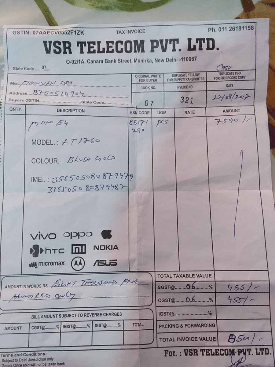 @motorolaindia I bought a Moto E4 on 22.8.17 in Delhi. It takes 5 hours to charge and lasts only for 5 hours. It gets heated while charging. Works slow. I was preparing for iit so I couldn't go to service centre. I bought it due to excellent company reputation. Please help.