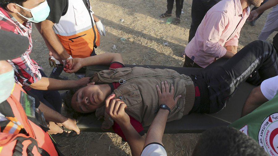 Dozens of Palestinians injured by Israeli forces during protest at #Gaza border https://t.co/nXFnybnP9J