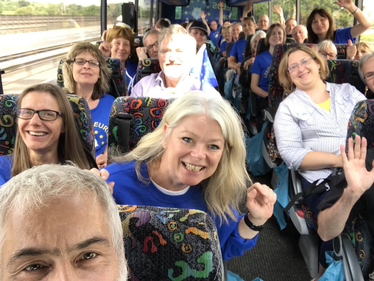 On our way to the #PeoplesVoteMarch from Leeds and Sheffield @LeedsEurope<br>http://pic.twitter.com/A0bveV8zju