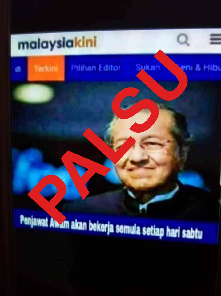 Malaysiakini Bm On Twitter Makluman Malaysiakini Tidak Pernah Menyiarkan Artikel Tersebut Pengguna Diingatkan Untuk Usul Periksa Dahulu Sebelum Kongsikan Imej Yang Tidak Benar Harap Maklum Https T Co Bbhslcbgjb