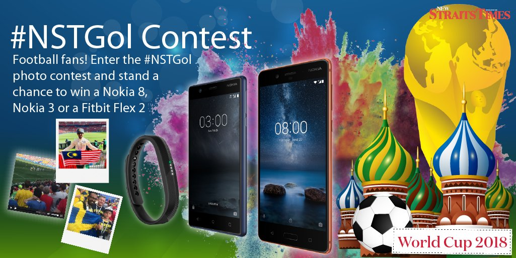 Calling all football fanatics! Fancy a whole new experience of Nokia 8 or Nokia 3? Or what about a FitBit? Enter #NSTGol photo contest and stand a chance to win one! nst.com.my/nstgol-contest