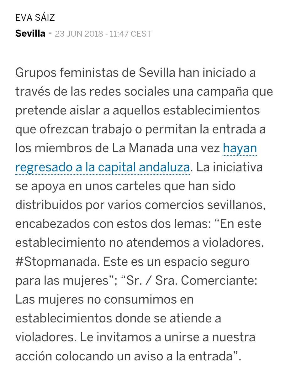 Una noticia que me parece relacionada: varios grupos feministas están recorriendo las calles de Sevilla invitando a los comerciantes a hacer actos públicos de adhesión, bajo amenazas de boicot.