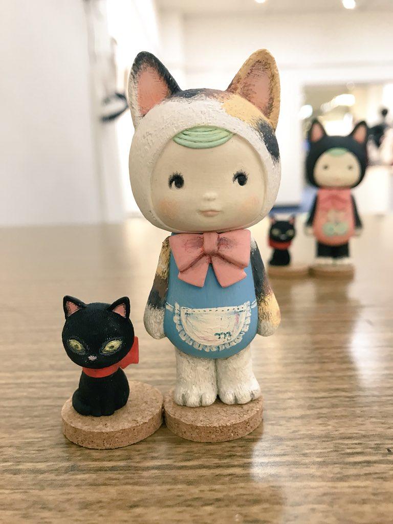銀座ねこ集会展 無事終わりました(о´∀`о)今日お持ちした立体コラボ猫ちゃんです(о´∀`о)せっかく塗ったので見て欲しくてアップです。 天気に悪い中足を運んでいただきありがとうございました(*´꒳`*)