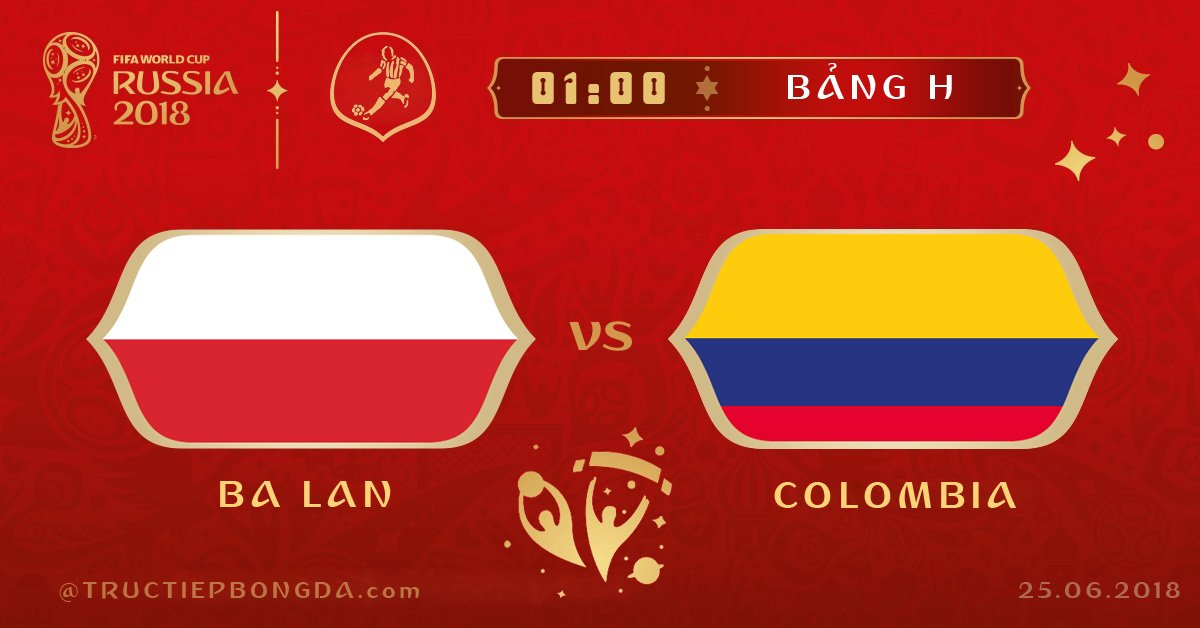 Ba Lan vs Colombia