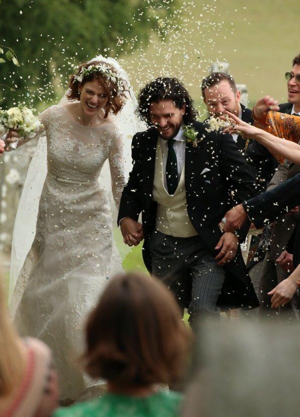 Kit Harington (Jon Snow) e Rose Leslie (Ygritte) - Casamento