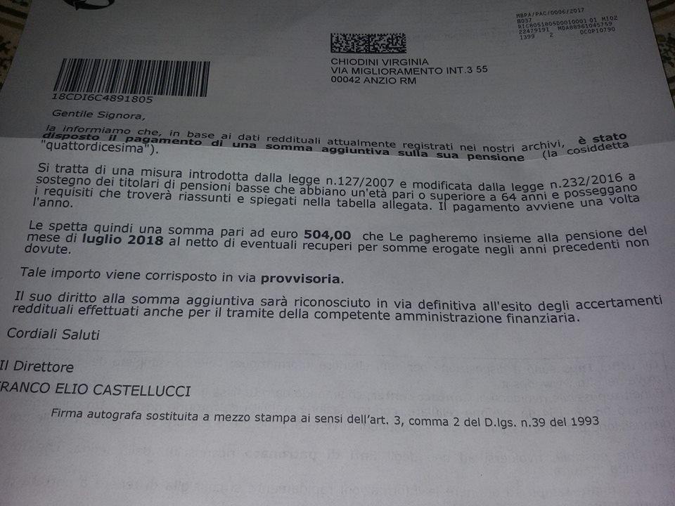 Per il seondo anno consecutivo grazie a Governi #Renzi - #Gentiloni stanno arrivando le XIVsime ai pensionati minimi !! #altracosa  - Ukustom