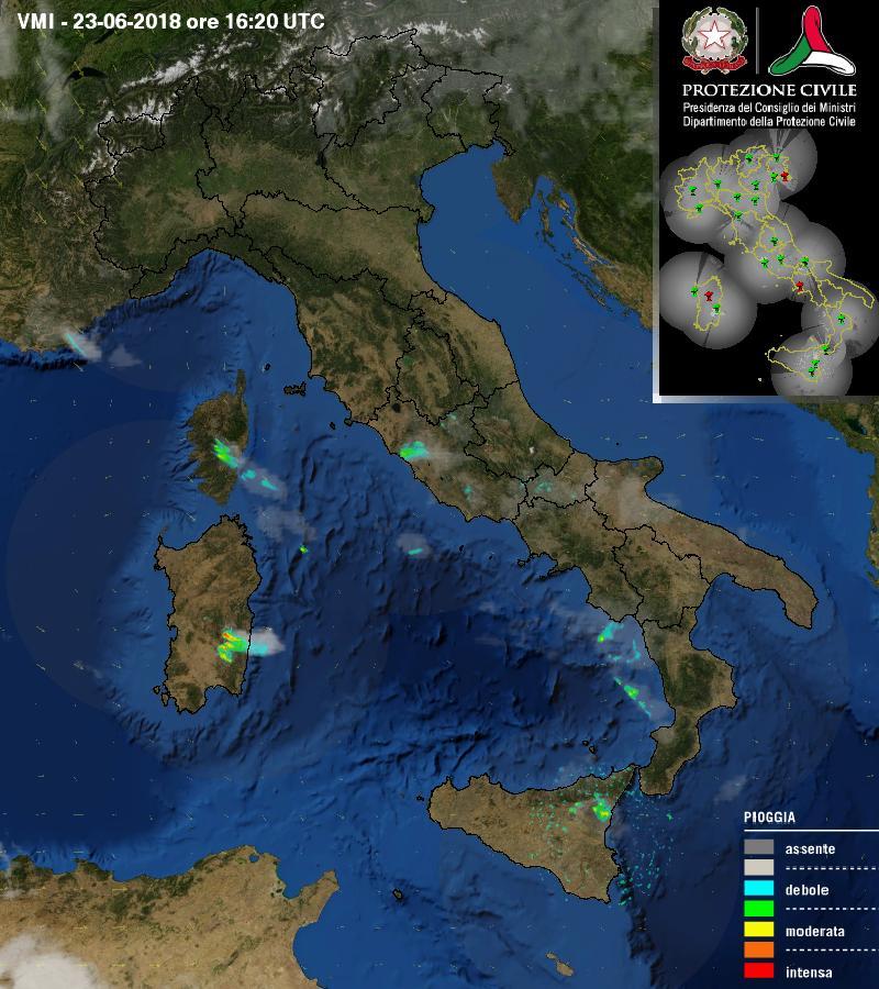 [23.06-18:30] #Italia ultima immagine RADAR #meteo di Dipartimento della Protezione Civile @DPCgov http://goo.gl/cenuZa  - Ukustom
