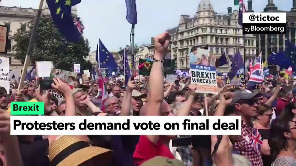 Anti-Brexit protests hit Parliament Square https://t.co/s2V7JZrMOA #tictocnews