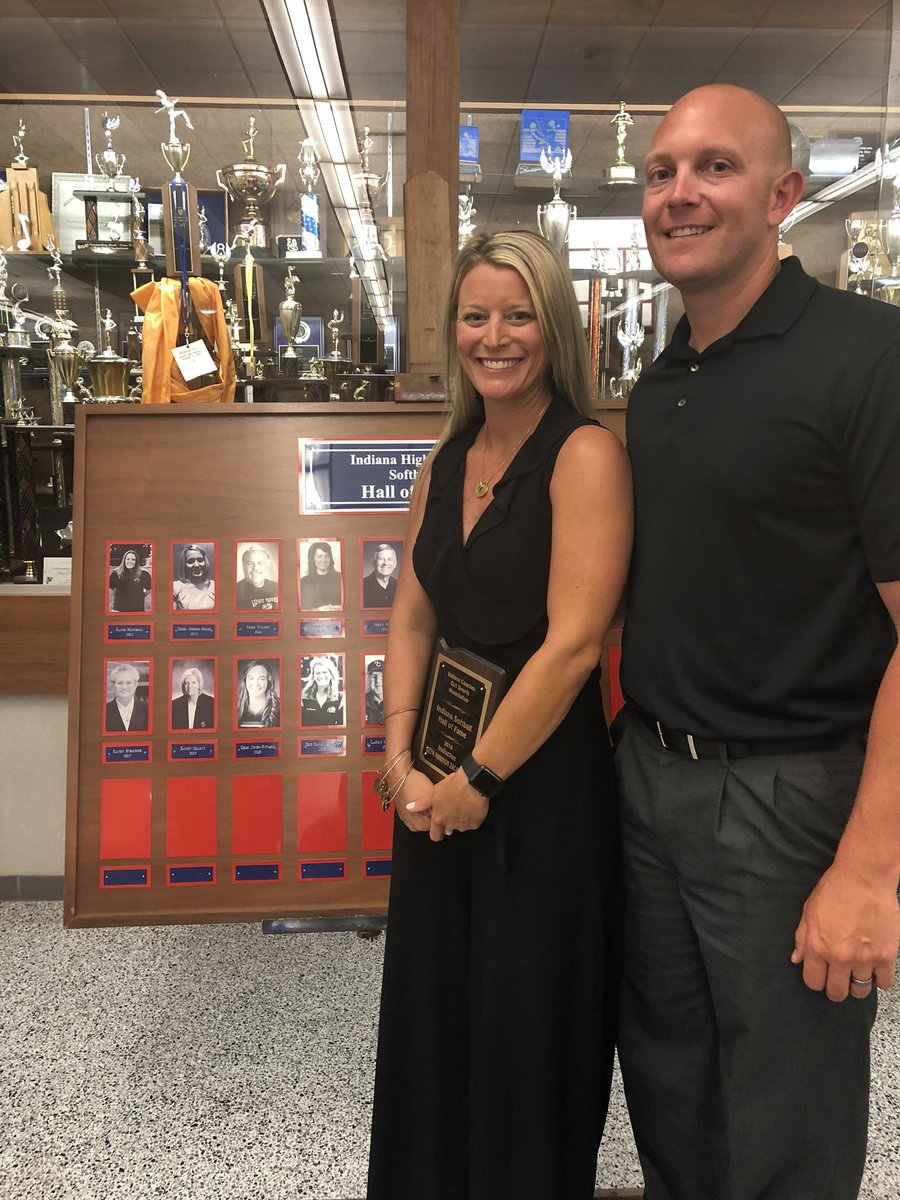 Inducted into the Indiana Softball Hall of Fame last night. Thank you to everyone who has supported me and my career. I love this game and have been blessed beyond belief. Thank you to the ICGSA. <br>http://pic.twitter.com/mf6vxN6dqK