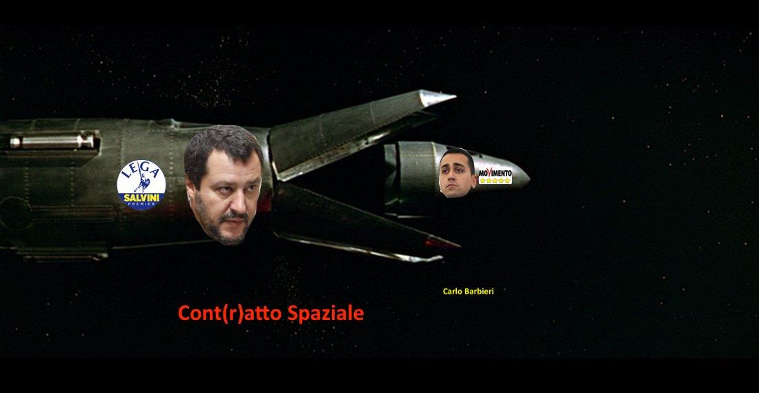 Cont(r)atto Spaziale #Salvini #Lega #M5S #Politica #Governo @stefapak  @antoniocalabro  - Ukustom