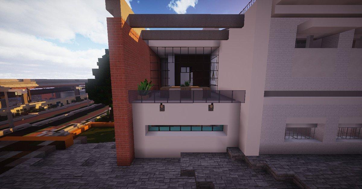 Wavv3s On Twitter Minecraft Maison De Ville Moderne Conceptuel Sur Amberstone Fr Au Warp Alixville Minecraft Architecturehouse