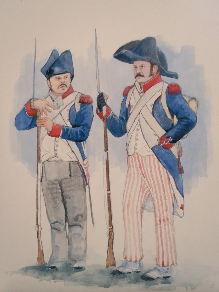 It&#39;s all about big hats and funky trousers. French Grenadiers, 1805 by @BPookArt #napoleonic #traditionalart <br>http://pic.twitter.com/9oAESKavhg
