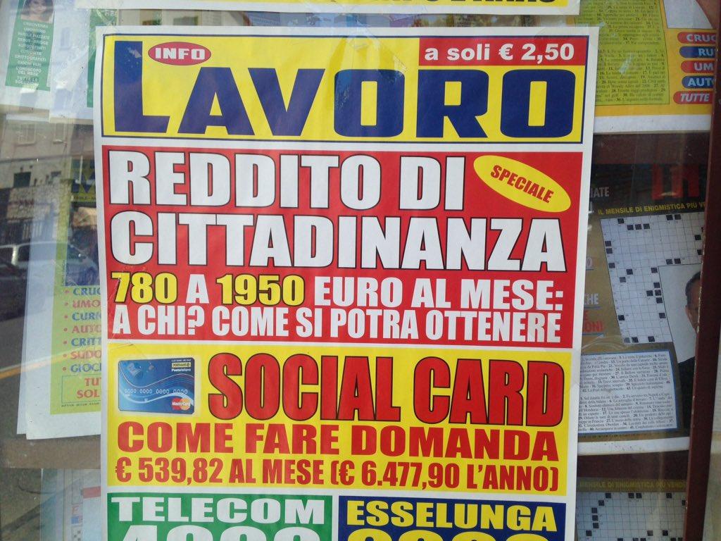 """In attesa del decreto fioccano i """"de-cretini"""",  in edicola #redditodicittadinanza  - Ukustom"""