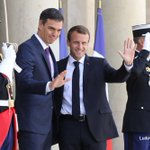 Macron y Sánchez Twitter Photo