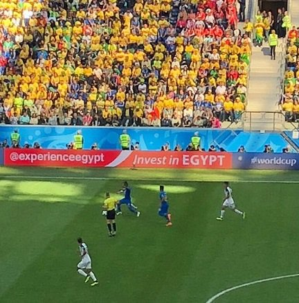 Egypt marketing itself at the world cup while Tourism CS Najib Balala is giving lectures about marketing Kenya as a Kenyan. <br>http://pic.twitter.com/nkbUTOeKiH
