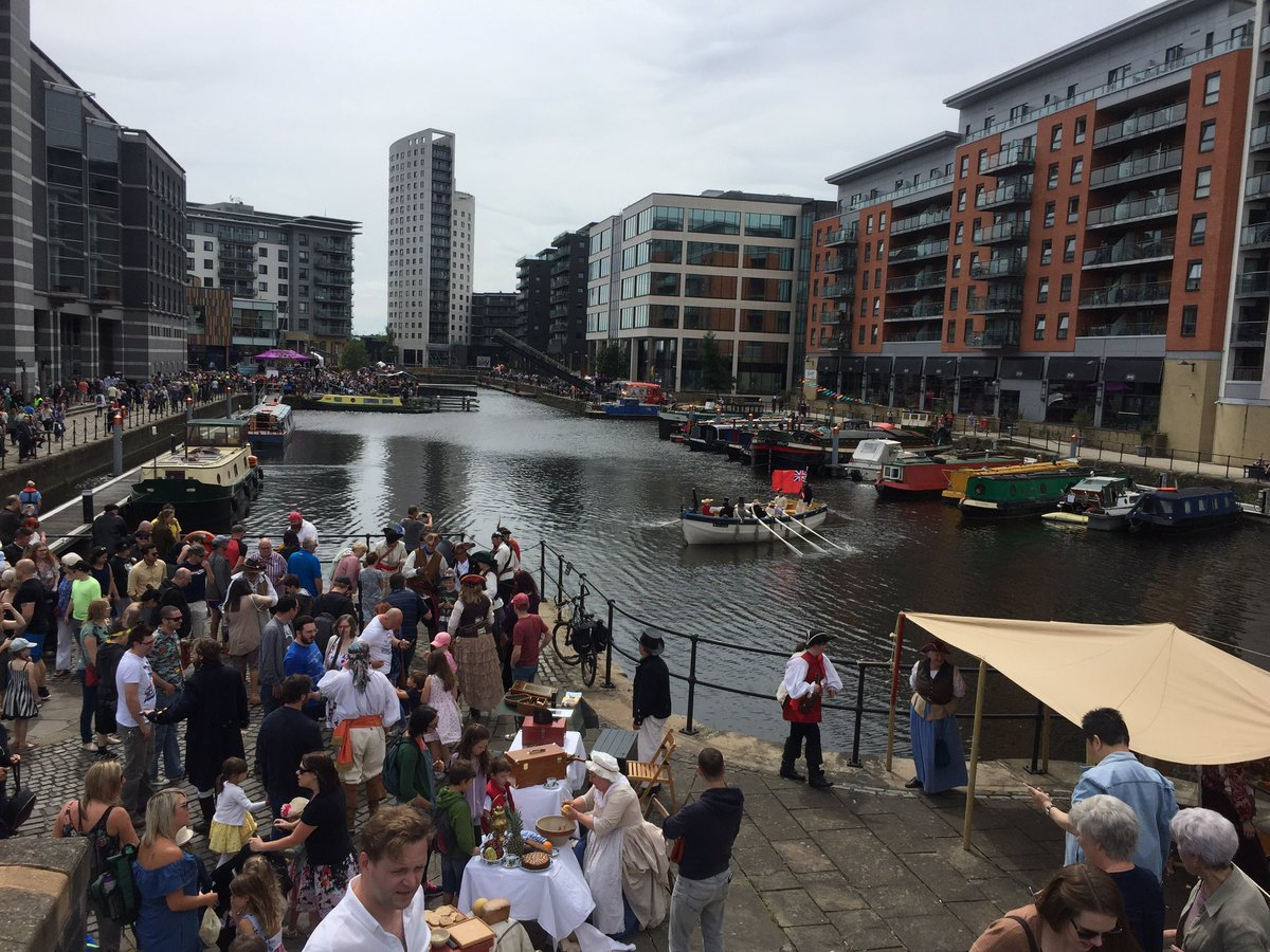 Its all been happening at the #LeedsWaterfrontFestival today.