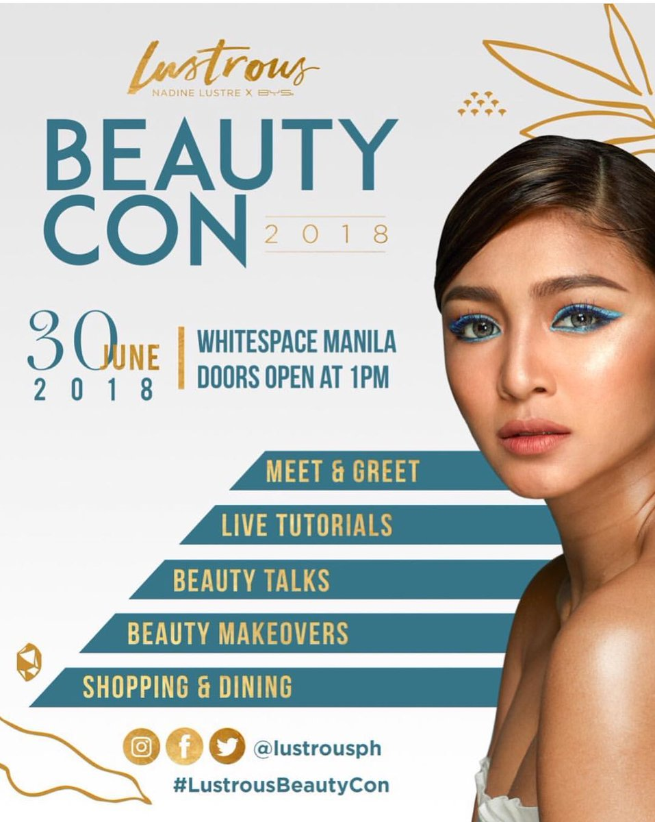 Here's what I know about the #LustrousBeautyCon:  - Everyone who pre-ordered a Lustrous box set should have received 2 complimentary tickets via email good for entrance only. This does not automatically qualify you for the meet &amp; greet.   #dafBAMA2018Nadine<br>http://pic.twitter.com/7ZCMQRelJh