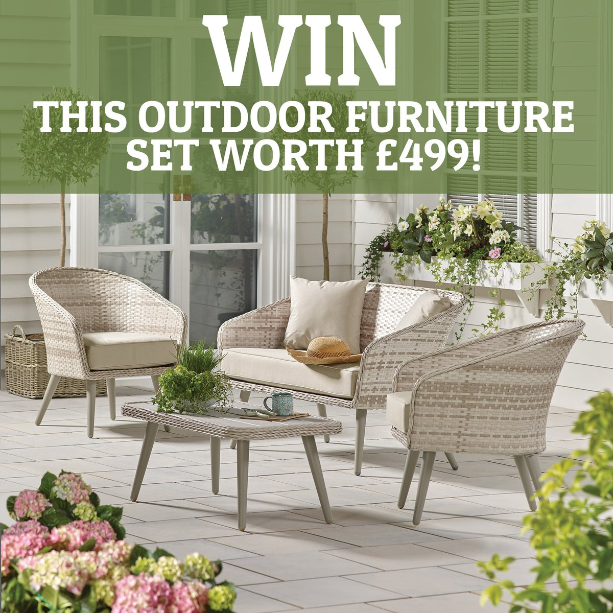 Want to win this beautiful outdoor furniture set? Simply head over to our  Facebook page and tell us who you would invite to your dream garden party >  ... - Dunelm On Twitter: