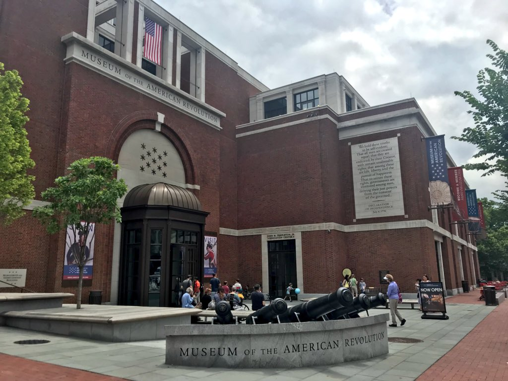 Today feels like a total museum day, doesn't it? Head our way in #historicphiladelphia & learn all abt America's founding era / Amrevmuseum.org