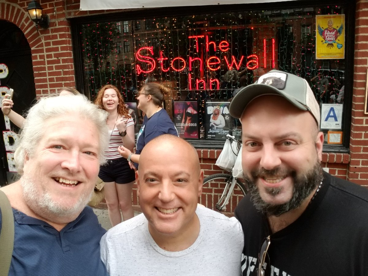Ran into JOE MANNETTI & CHAUNCEY DANDRIDGE outside @TheStonewallNYC to start Pride Weekend!  #tymmoss #joemannetti #chaunceydandridge #nycpride #lifeoftym #gaymoviestar #lgbtactivist