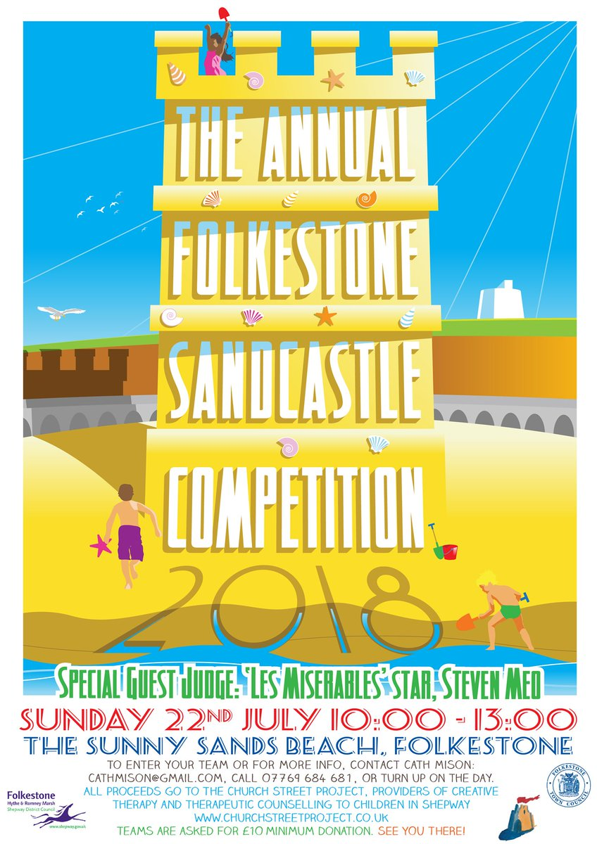 It's four weeks away!! The Annual Folkestone Sandcastle Competition... <br>http://pic.twitter.com/kEhRUNKhX9