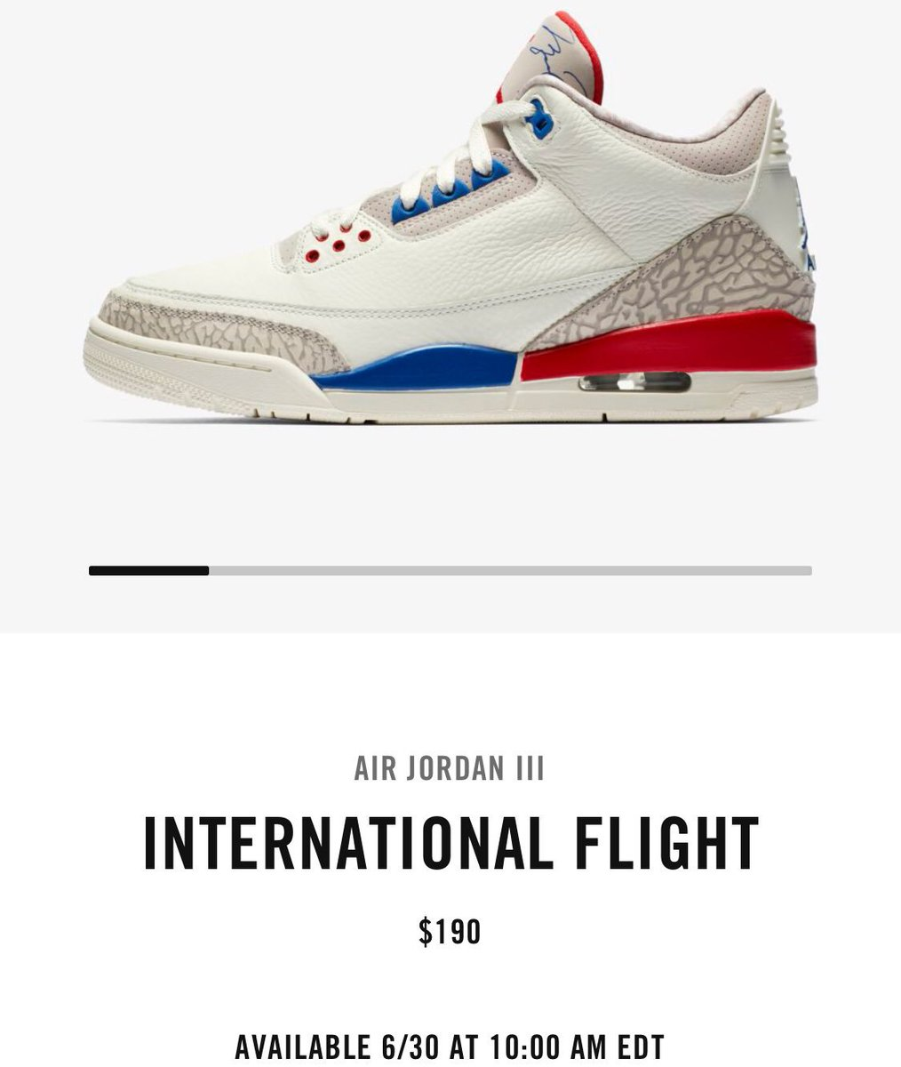 c0ea1000a6b3 ... 10 am ET for  190 on SNKRS and select retailers Westbrook 10  https   bit.ly 2to12LS Int l Flight 3 https   bit.ly 2ttM1Y4  snkr twitrpic. twitter.com  ...