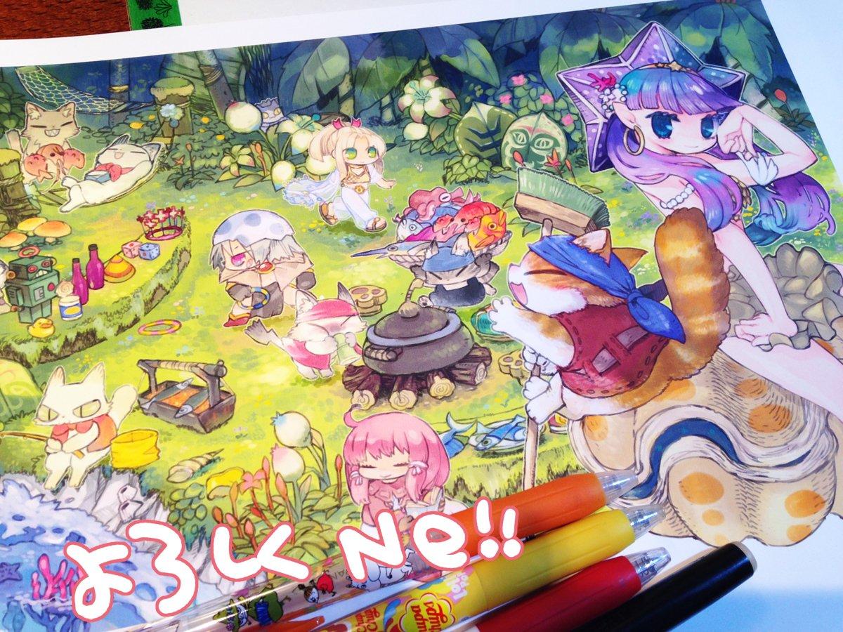 ট ইট র りあら ラグナロクオンライン サマーパッケージ18に壁紙イラスト描きました なつかしの面々がマラン島でにゃんこと夏の遊びを満喫しちょります よろしくどーぞー T Co Ui5tdav2s8