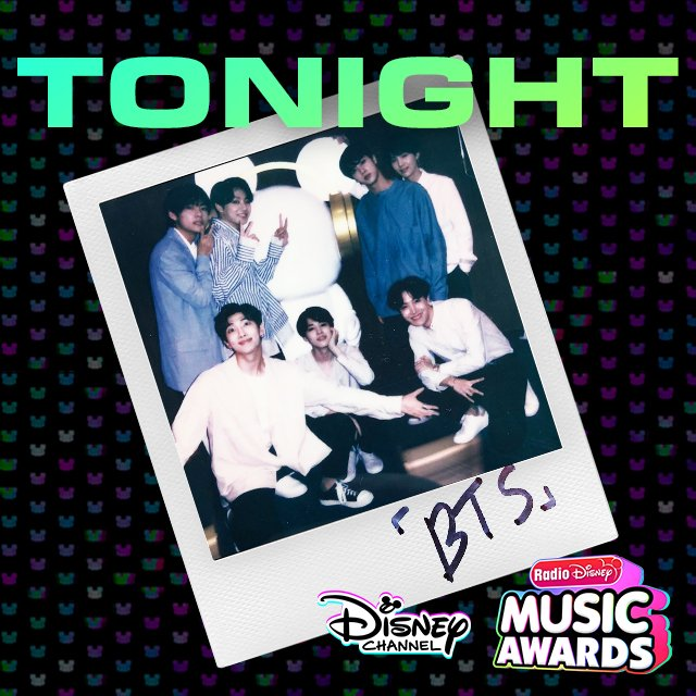 Watch the #RDMA tonight at 8p on @DisneyChannel! You might see something special from #BTS! @bts_bighit @BTS_twt
