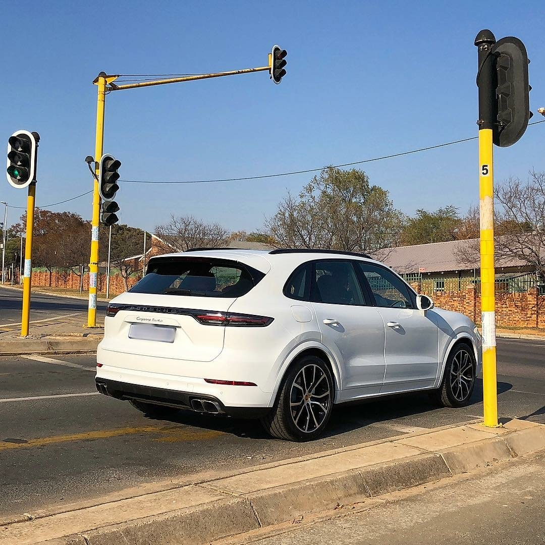 The brand new Porsche Cayenne Turbo out on the streets of Sandton. Such a handsome vehicle.  Photo by @sandtonsupercars on @instagram <br>http://pic.twitter.com/WH3bwgUjpa