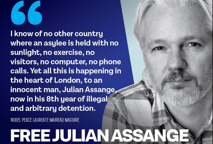 #FreeAssange! (tweets by campaign)⌛'s photo on Maguire